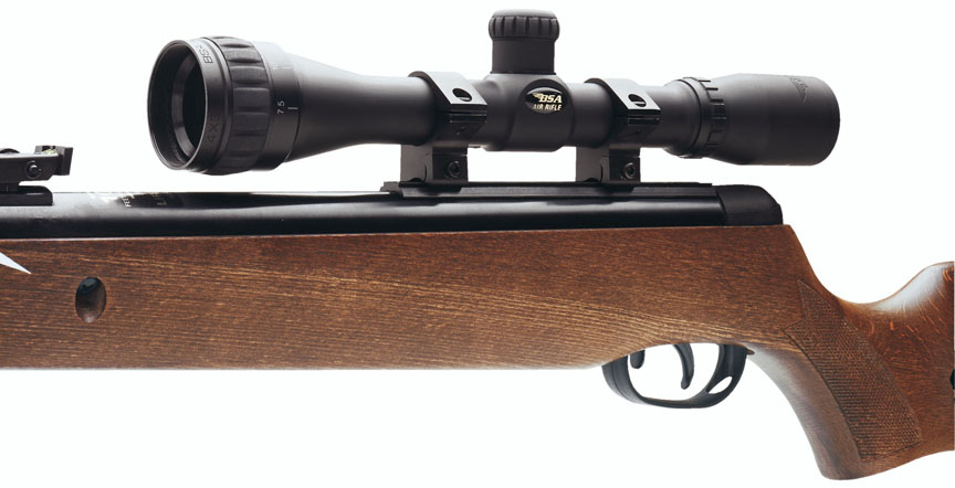 BSA 4x32 Air Rifle Scope AO Target Turrets Standard Reticle Matte